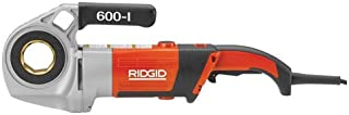 RIDGID 44918 Model 600-I Hand-Held Power Drive Kit, Pipe Threading Machine and 1/2-Inch to 1-1/4-Inch 11-R NPT Pipe Threading Die Heads with Carrying Case for Threading Pipe
