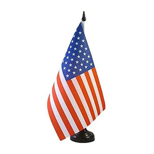 AZ FLAG Drapeau de Table Etats-Unis 21x14cm - Petit Drapeaux DE Bureau américain - USA 14 x 21 cm