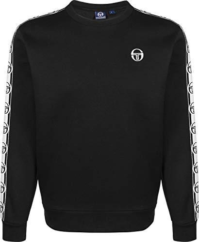 Sergio Tacchini Sweater Herren DELACO SAM9238316 Black White, Größe:L