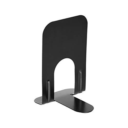 AmazonBasics Soporte metálico para libros, 18 cm, 6 pares, negro