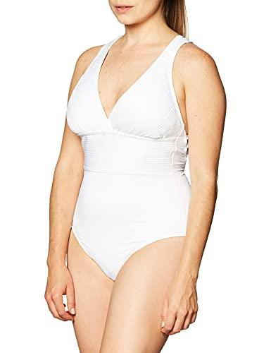 La Blanca Women's Standard Multi Strap Cross Back One Piece Swimsuit, White//Lets Duet, 0