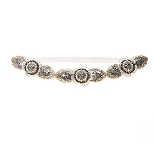 Millésime Perles Applique Fleur Bandeau Filles Mariée Prom Accessoires Cheveux