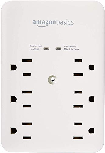 AmazonBasics 6 Outlet, Wall Mount Surge Protector
