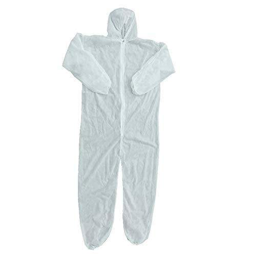 Funnyrunstore Protezione di Sicurezza Abbigliamento Tuta monouso Abbigliamento Anti-Polvere Abbigliamento Isolante Vestito da Lavoro T-Shirt Non Tessuta (Bianco (XXL))