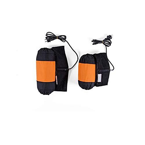 VRDN de alta calidad Carrera Neumático Calentador Motocicleta Neumático Calentador 110/140 Delantero y trasero 1 Par Calefacción Neumático Manta eléctrica 80 grados 100% nuevo (Color : Orange)