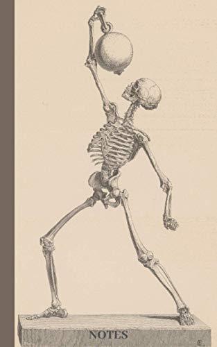 Notes: Anatomy Notebook Journal Anatomical Skeleton Cover Design: Notebook for Medical Students Nurs