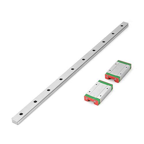 SPRINGHUA LML15H Mini-Lineare Gleitschiene, 400 mm Länge, mit 2 Verlängerungsschienen, LML15H Linearschiene, 400 mm Länge, mit 2 Verlängerungsschienen