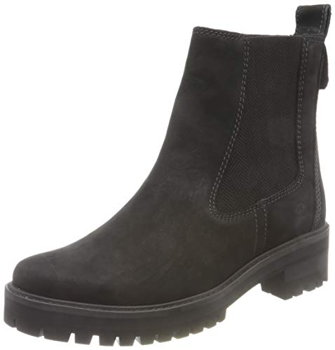 Timberland Courmayeur Valley, Zapatillas Chukka para Mujer, Negro (Black Full Grain), 38 EU