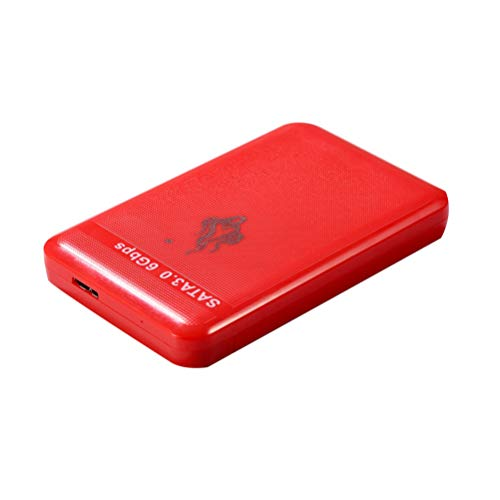 Uonlytech Disco Duro Móvil de Alta Velocidad Usb3. 0 Disco Duro Externo Disco Duro Portátil Portátil (Rojo 1 TB)