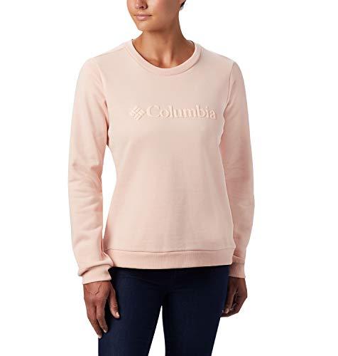 Columbia Model Sudadera sin Capucha con Logo, Mujer, Rosa (Peach Cloud), L