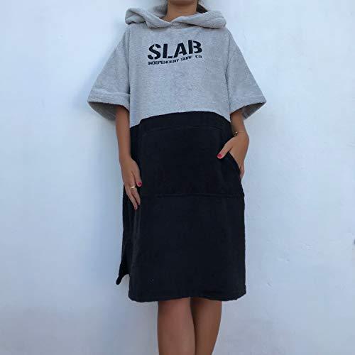 Slab-Poncho Toalla Grey and Black Talla S/M