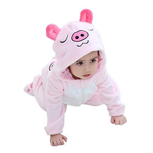 IMJONO Unisexe B/éb/é Grenouill/ères Combinaison Pyjama Ensemble de Pyjama Dors Flanelle Bien Enfant B/éb/é Combinaison Hiver Forme Animal D/éguisement Dessin anim/é Renard