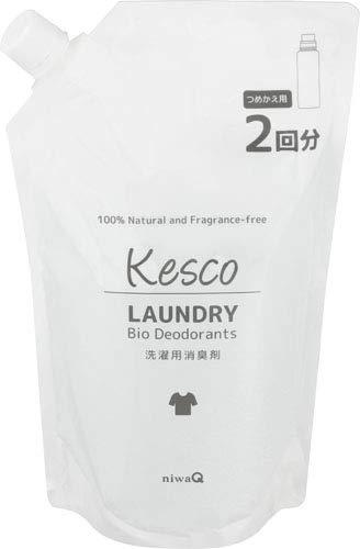 KESCO (ケスコ) 消臭剤 洗濯用消臭剤 (詰め替え 1000ml / 魔法のバイオ消臭 新ケスコ洗濯用) 無香料 衣類 タオル シーツ (衣類の除菌・消臭 洗濯槽のカビ予防)