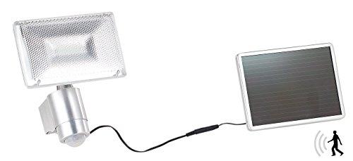 Luminea Solar LED Fluter: Solar-LED-Strahler aus Aluminium mit PIR-Sensor, 10 W, 1.000 lm, IP44 (Außenstrahler Solar)