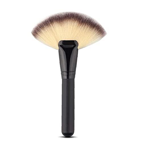1pc gros gros ventilateur plateau pinceau outils de maquillage ventilateur visage visage pinceau concepteur poudre de poudre blush paupière nez brosse à tache de nez