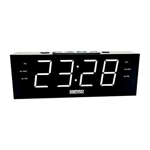 Radio Despertador Daewoo DCR-560 Negro
