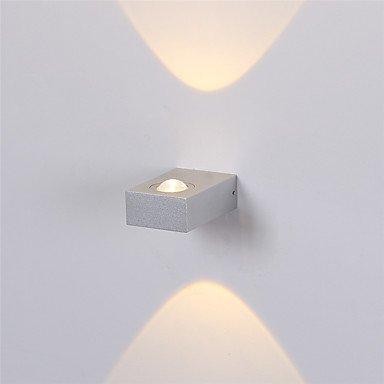 6W moderne Applique murale LED Piscine couloir vers le bas de l'éclairage décoratif en aluminium Spot blanc chaud, = 190V,Silver,