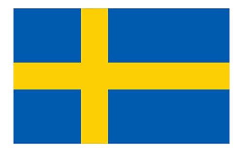 Queenshiny® Europa Länder Nationalflaggen Fahne/Flagge 90 x 150 cm - Schweden