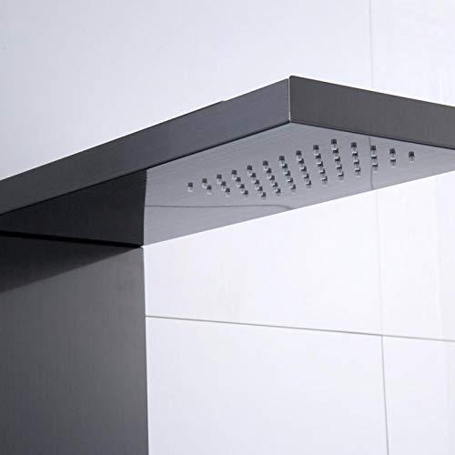 Panel de ducha de acero inoxidable Panel de ducha de acero inoxidable Panel de ducha en aerosol en cascada Hogar para baño