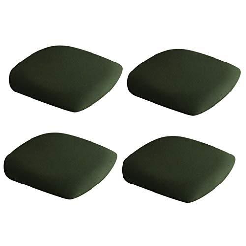 Amuzocity 4 Stück Esszimmerstuhl Sitzbezüge Stretch Barhocker Stuhlhussen Army Green