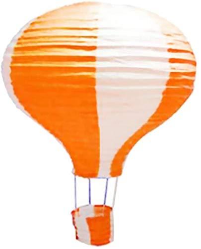 SLL Spielzeug Spielzeug 12-Zoll-Heißluft-Ballon-Papierlaterne Lampshade Geburtstags-Party Hochzeit Blowout-Dekor - orange und weiß, 30cm
