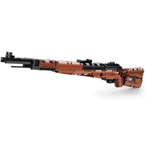 Kit de bloques de construcción de rifle Technik, 1406 bloques de construcción de abrazadera Scar 17S Blaster modelo con balas, compatible con Lego, 14002