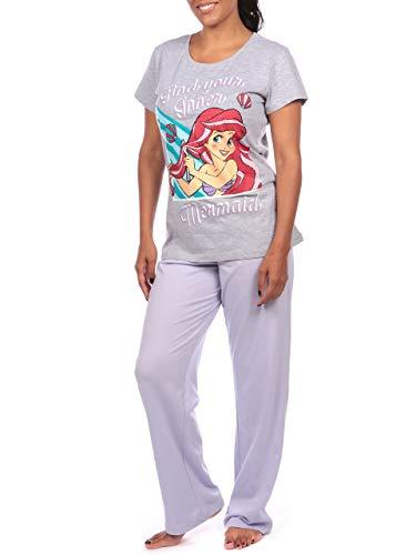 Disney Damen Arielle, die Meerjungfrau Schlafanzug The Little Mermaid Mehrfarbig X-Large