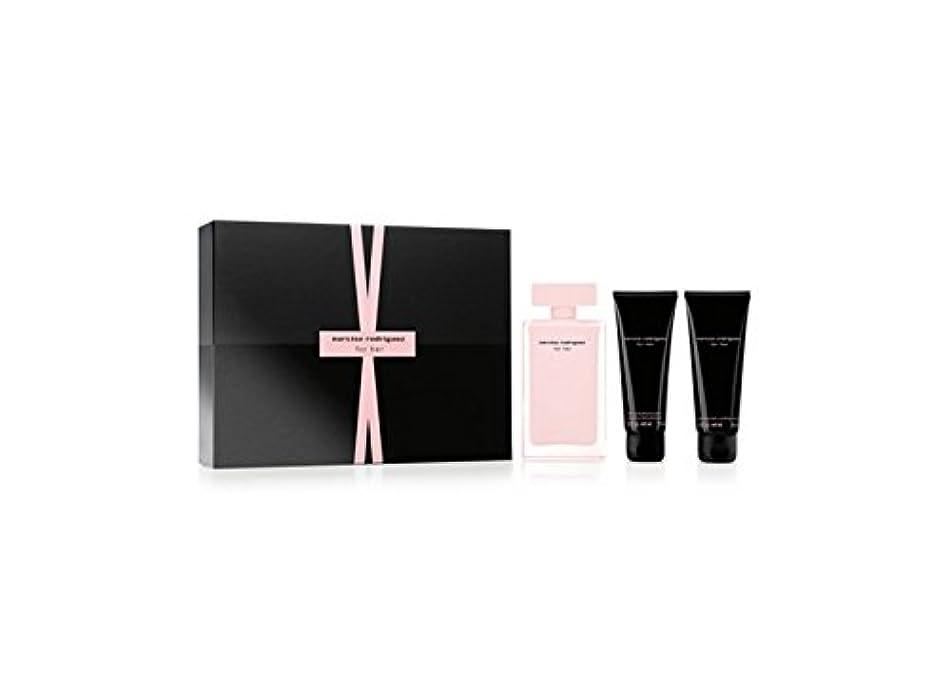 Narciso Rodriguez for Her Eau De Parfum 3pcs Gift Set Edp 3.3 Oz Spray,2.6 Oz Body Cream & 2.5 Oz Hand Cream