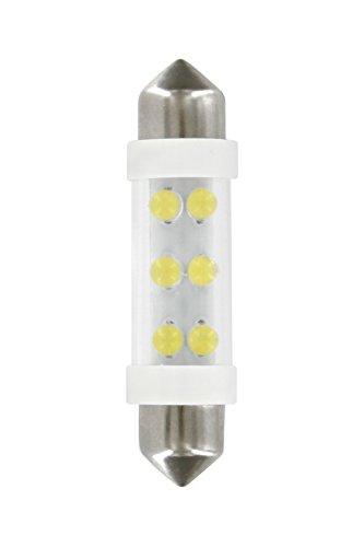2 Ampoules 4 Leds navette SV85-8 24V blanc - 38mm