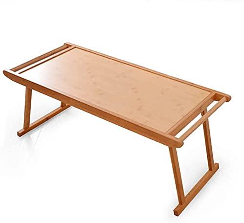 CZYNB Mesa Plegable de bambú Mesa de Centro Plegable de café, Mesa de Bandeja de Desayuno de sofá, Adecuado para la Sala de Estar de la Ventana (Size : 76×43cm)