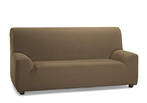 Martina Home Tunez - Funda para sofá, elástica, Marrón (Cuero), 1 Plaza (70-110)