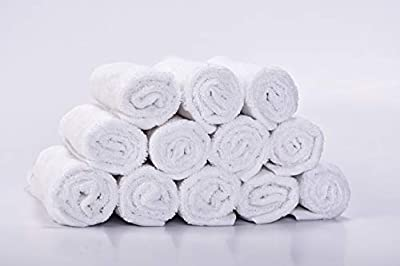 Kyapoo Baby Washcloths 12 Pack 11.2x11.2 Inches Premuim Bamboo Extra Absorbent and Soft for Babies,Newborns, Infants and Toddlers, Perfect for Sensitive Skin Baby Shower Gift?White