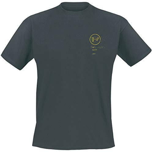 Twenty One Pilots Bandito Circle Hombre Camiseta Ceniza/Negro S, 100% algodón, Regular