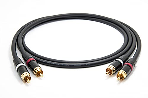 Mogami 2534 Quad Stereo Paar (L,R) Audio Kabel | Neutrik Gold Cinch RCA | HiFi, 1,0 m