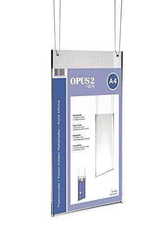 OPUS 2 350010-Plakattasche für DIN A4, Acryl glasklar, Hoch, mit 2 Bohrungen