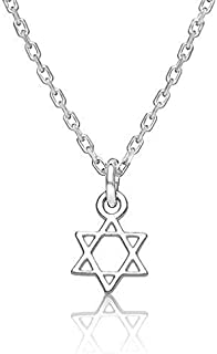 Jewish Star Tiny Necklace for Girls, Bat Mitzvah Gifts and Adult Women for Religious Jewish Celebrations