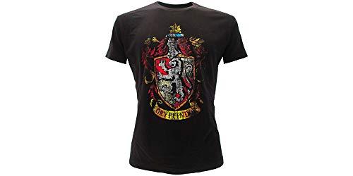 T-Shirt Maglietta Stemma Casa Grifondoro Harry Potter - 100% Ufficiale Warner Bros (M Medium)