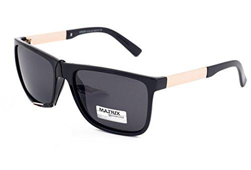 Matrix Collection gepolariseerde zonnebril voor rijden, vissen - lichtgrijze lenzen - geen schittering - kunststof frame, nieuw ontwerp