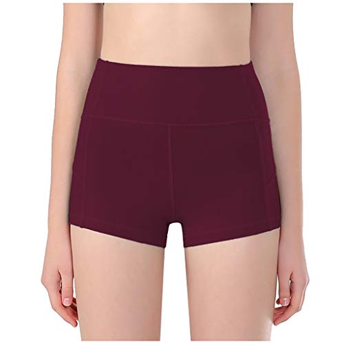 Y56(TM) Yoga Pilates-Shorts für Damen, Hohe Taille Yoga Sporthose Shorts Capri Fitness Hosen Workout Leggings