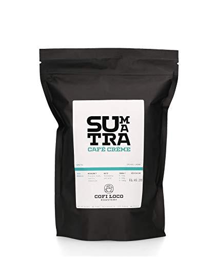 COFI LOCO Sumatra cofi creme 500g - Kaffeebohnen für Vollautomaten, Filterkaffee, French Press - 100% Bio - Fair gehandelt - Single Origin aus Indonesien