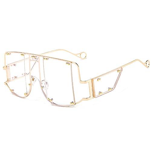 Gafas De Sol Hombre Mujeres Ciclismo Gafas Cuadradas Gafas De Sol para Mujer Gafas De Sol para Hombre con Montura Metálica De Moda