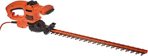 Black+Decker 450W 50cm Electric Hedge Trimmer with 18mm Blade Gap for Garden & Hedges, Orange/Black - BEHT251-GB, 2...