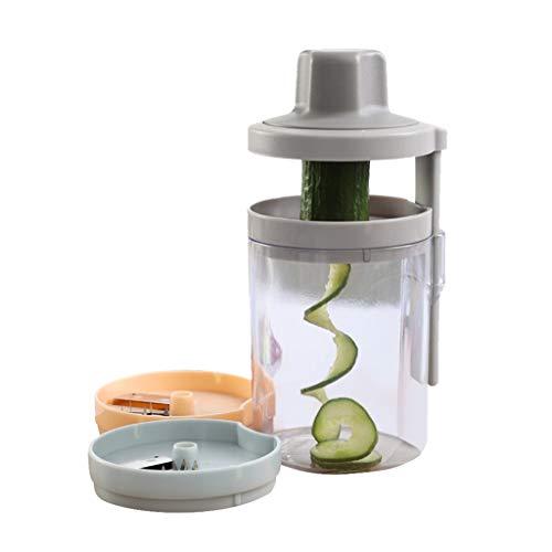 Samoii Vegetable Spiralizer Vegetable Slicer - 3 in 1 Fruits Spiralizer Maker Noodle Shape Maker - Veggie Spiralizer Adjustable Handheld Handheld Vegetable Spiralizer