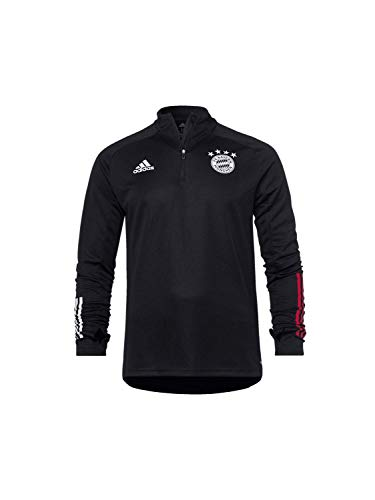 adidas Kinder 20/21 FC Bayern Training Top Trainingsshirt, Black/Fcbtru, 152