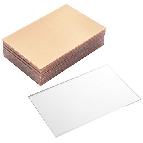 ULTNICE 20 Stück Klar Gegossene Acrylplatte Transparent Plexiglas Brett Tischnummer Zeichen Foto Bilderrahmen Ersatzplatte für Kalligraphie Malerei Handwerk 10X15cm