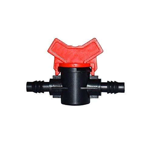 Wlbhb 1/4' Adaptador de la Manguera 3/8' 1/2' 3/4' Válvula de Agua Jardín Tap DN15 DN20 Válvula de riego Mini Waterstop Conectores Jardín Conector de la Manguera (Color : 8mm)