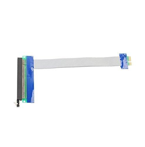 MOKAO Ribbon Extender Extension Cable PCI-E 1x To 16x Riser Card Ribbon Extender Extension Cable (Blue)