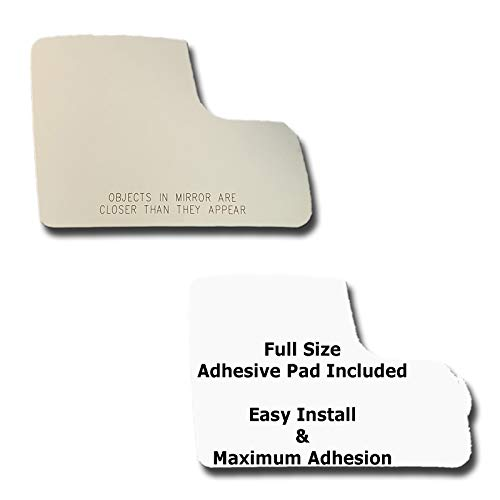 Mirror Glass + Full Size Adhesive Pad for 2011-2013 Ford Transit Connect Passenger Side Replacement