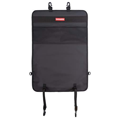 Cuori protezione schienale e organizer in set da 2 pezzi. Protegge i sedili dell'auto da sporco e danni causati dalle scarpe dei bambini. Ideale per viaggi in auto con bambini.