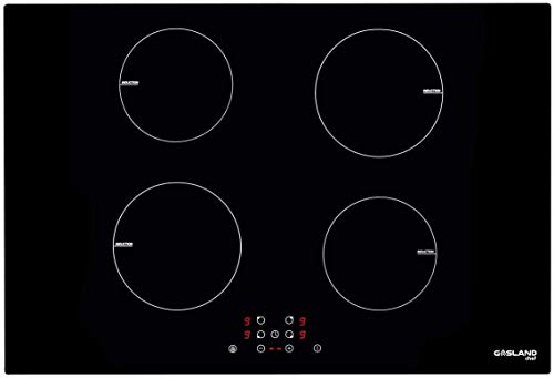 """30"""" Built-in Cooktop, GASLAND Chef IH77BF Electric Induction Stovetop, 240V Drop-in 4 Cooking Zone Countertop, 9 Power Levels, Sensor Touch Control, Child Lock, 1-99 Minutes Timer"""